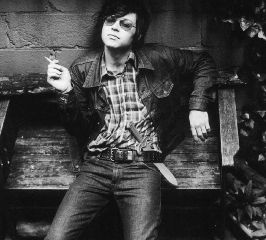 Ryan Adams smoking a cigarette (or weed)